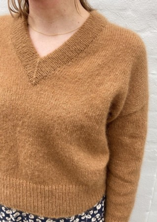 Stockholm Sweater V-neck | Tynn Silk Mohair | Strikkepakke PetiteKnit