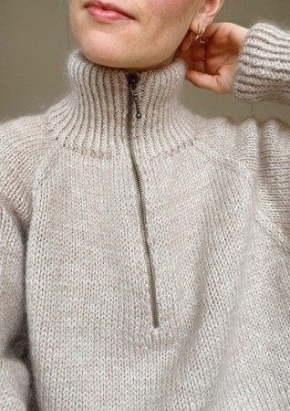 Zipper Sweater | Oppskrift | PetiteKnit