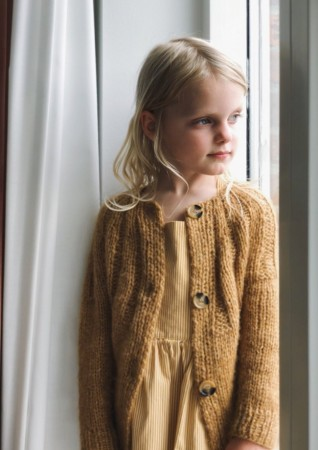Sunday cardigan junior | Oppskrift PetiteKnit | KOS og Tynn Silk Mohair